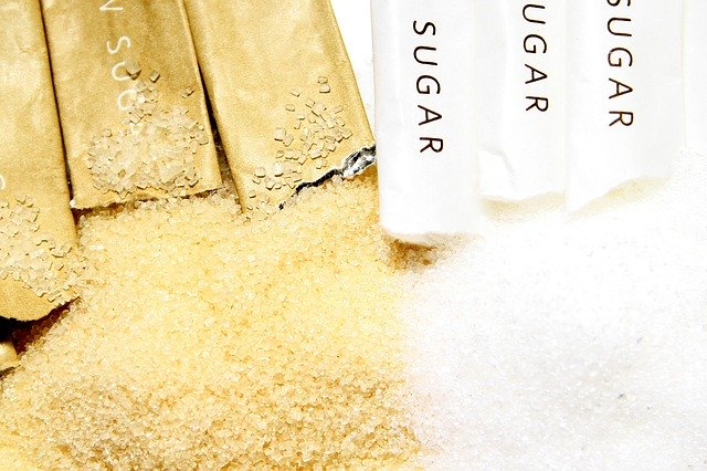 comparing white sugar to brown sugar for coffee use